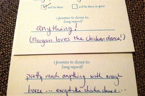 Rsvp Cards With Song Request