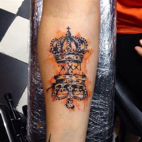 dutch tattoos crowns watercolor watercolour tattoos