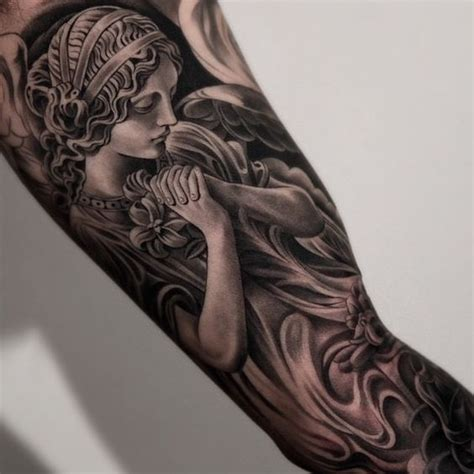 angel tattoo in arm amazing artist jun cha inner arm angel tattoo amazing
