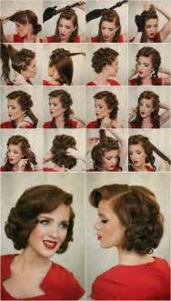 curling hair tutorial for med hair 14 glamorous retro hairstyle tutorials pretty designs