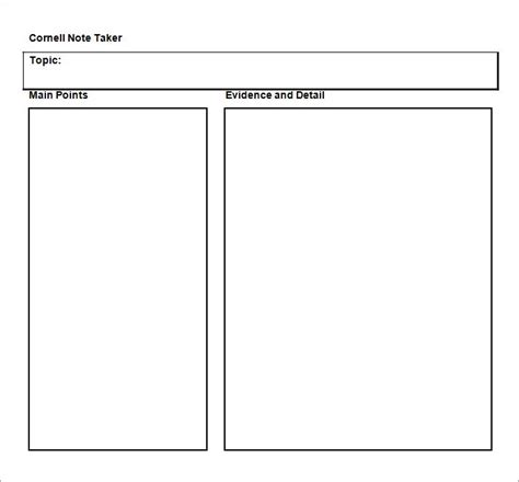 Cornell Notes Word Template Sadamatsu Hp Cornell Notes Powerpoint Template