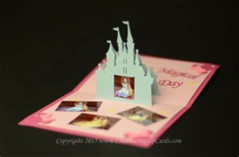 creative pop up cards templates free castle pop up card tutorial creative pop up cards