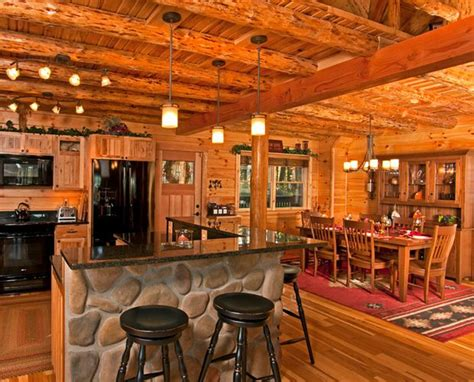 rustic log house interior design house and home