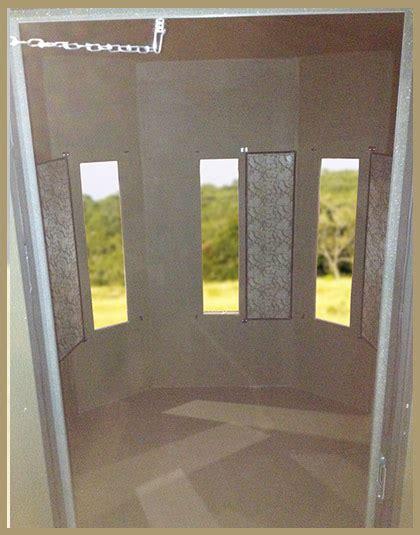 bow blind windows 5 215 6 half hex combo gun bow buck stop deer blinds deer feeders