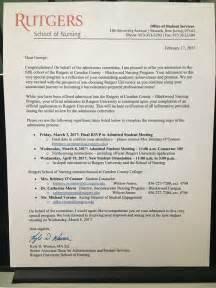 Acceptance Letter Nursing Program Rutgers Ccc Blackwood Nursing Acceptance Fall 2017 Cohort Allnurses