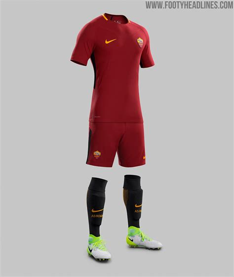Jersey Bola Stelan As Roma Home 17 18 Grade Ori Set as roma 17 18 home kit revealed footy headlines