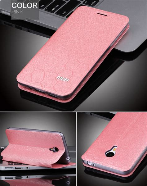 Zagbox Flip Cover Meizu M2 Pink fashion leather flip cover stand for meizu m2