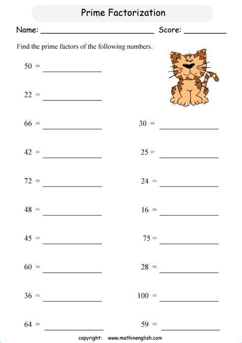 printable prime numbers worksheets prime factors maths worksheets 1000 ideas about prime