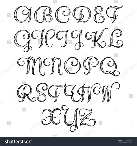 Wedding Font Capital by Calligraphic Font Your Design Stock Vector