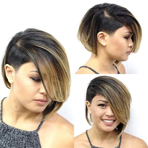 side bangs hairstyles dailymotion undercut bob haircut haircuts models ideas