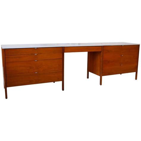 Floating Desk For Sale by Florence Knoll Walnut Dresser Set With Floating Desk