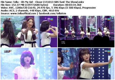 download mp3 closer oh my girl download perf oh my girl closer sbs fune the show 151013
