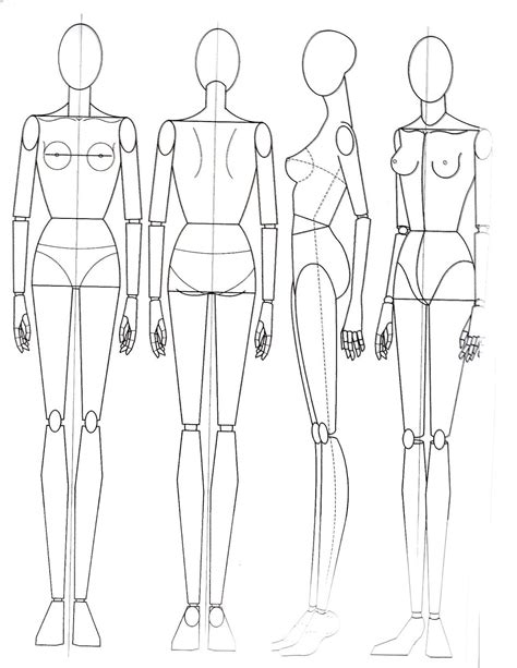 design by humans template fashion figures drawing google search эскизы