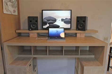 Workspace Working Standing Up Sound Design Stack Exchange Home Studio Desk Ikea