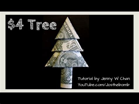 Tree Dollar Bill Origami - crafts diy how to fold money tree