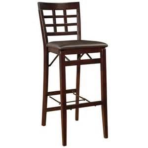 Bar Stool Folding Chairs Linon Triena 30 Quot Window Pane Wood Folding Bar Stool