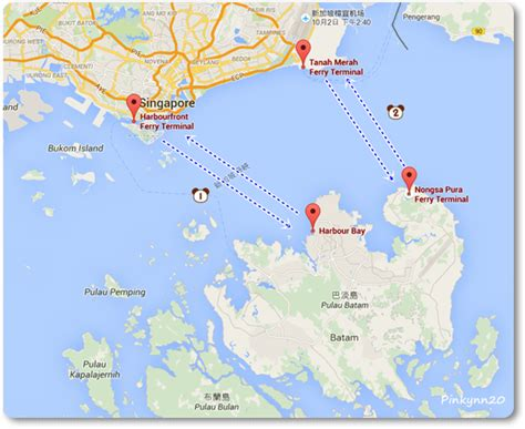 ferry harbour bay to tanah merah 2015 新加坡 巴淡島 刁曼島 day2 從新加坡 harbourfront 出發巴淡島 batam 在這裡不