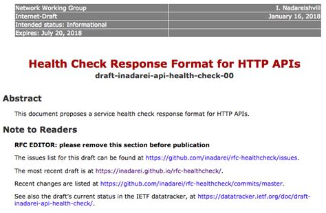email format check in javascript a health check response format for http apis
