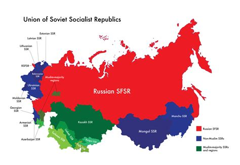 russia map before and after map of ussr muslim majority ssrs and regions by nahmala