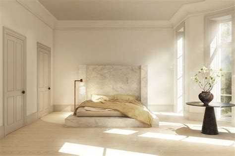rendering   rick owens alabaster bed interiors