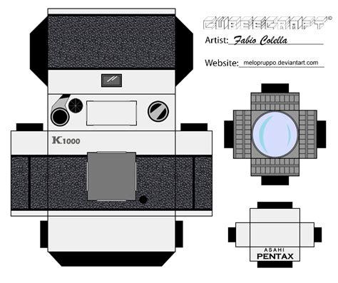 Papercraft Canon - pentax cubeecraft by melopruppo on deviantart