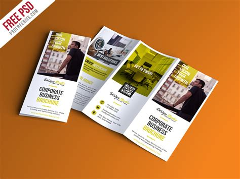 Brochure Trifold Template Psd by Professional Trifold Brochure Psd Template Psdfreebies