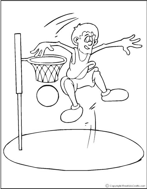 basketball player coloring pages free printable pictures