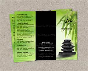 massage business brochure design custom by idesignstationery