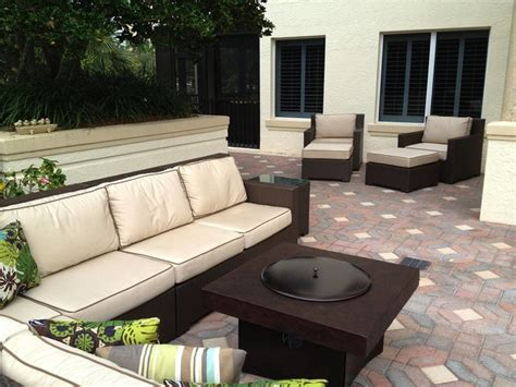 outdoor patio furniture with pit outdoor patio furniture set with gas pit table contemporary patio other metro by