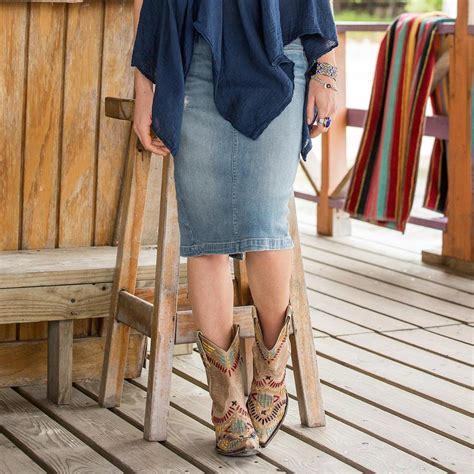 Zhiana Denim Daily daily rounds denim skirt robert redford s sundance catalog