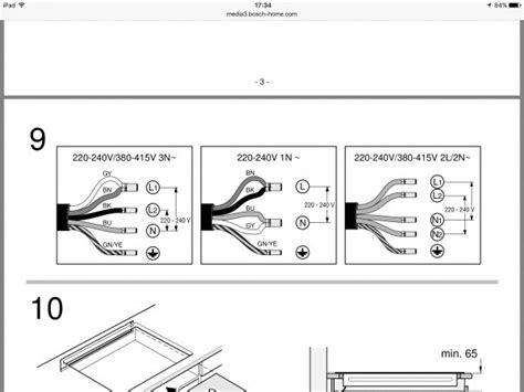 backofen und autarkes kochfeld an einen herdanschluss aansluiting wel of geen 3 fase