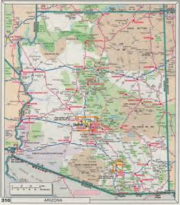 arizona county map with roads index of maps
