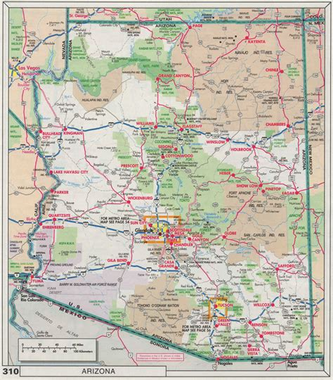 arizona highway map free driving map of arizona pictures to pin on