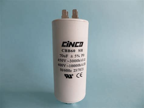 run capacitor small 70uf 400v 450vac cbb60a motor run capacitors cinco capacitor china ac capacitors factory
