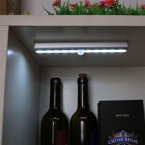 10 led usb rechargeable pir sensor closet cabinet l