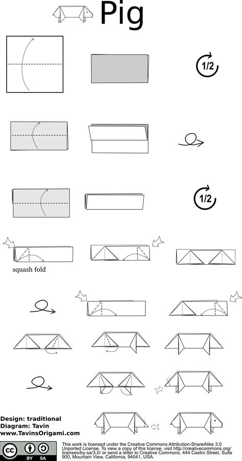 Origami Pig Diagram - index of diagram