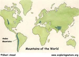 Andes Mountains On World Map by The Gallery For Gt Andes Mountains World Map