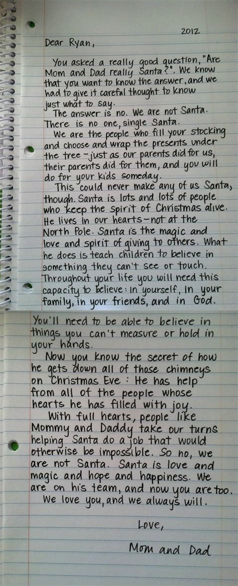 Parent Letter To Child About Santa 25 Best Ideas About Santa Letter On Letter Explaining Santa Santa Real And
