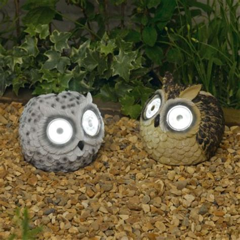 solar powered owl light solar powered owl garden lights