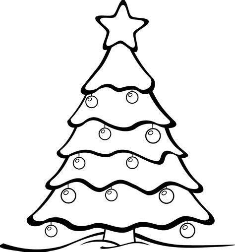 christmas tree cartoon black  white
