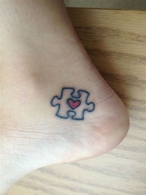 hole in the sky tattoo my autism awareness puzzle with a