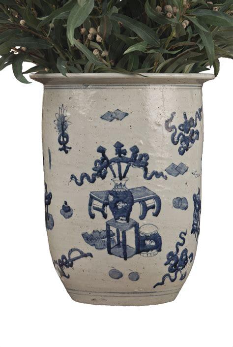 Blue And White Porcelain Planters by Blue White Porcelain Planter Home Decor