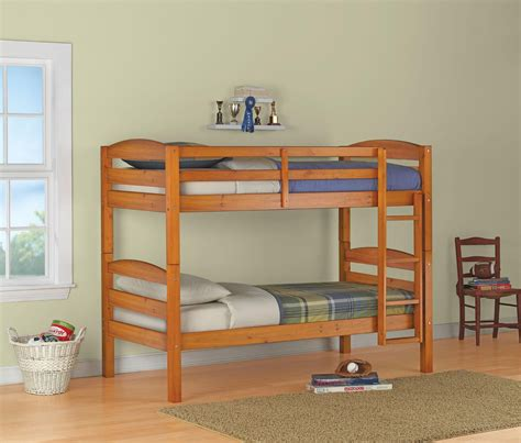 bunk beds images dorel living mainstays twin over twin wood bunk bed pine