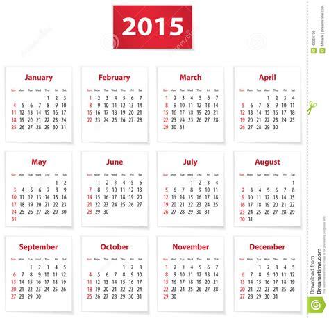 Kalender Englisch 2015 Calendar Stock Vector Image 43360706