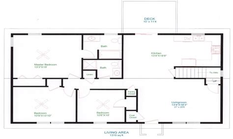 Open Floor Ranch House Plans by Ranch House Floor Plans Unique Open Floor Plans Easy To