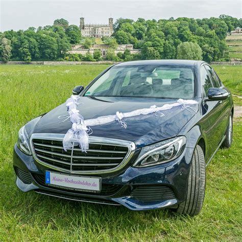 Hochzeit Autoschmuck autoschmuck hochzeit rosengirlande in wei 223 als 2er set