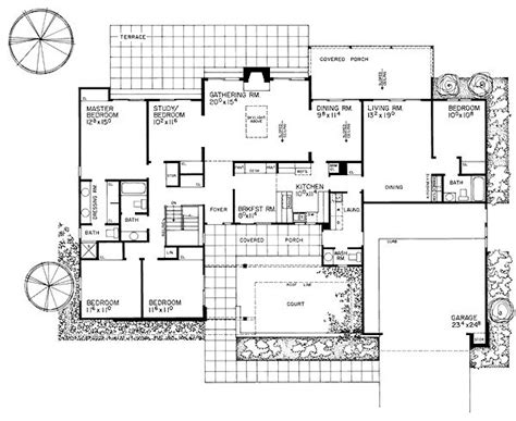 modern ranch floor plans contemporary ranch retro traditional house plan 95154