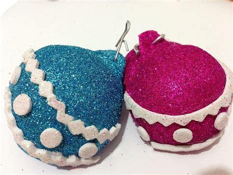 imagenes animadas de navidad en foami bolas de navidad de foamy o goma eva youtube