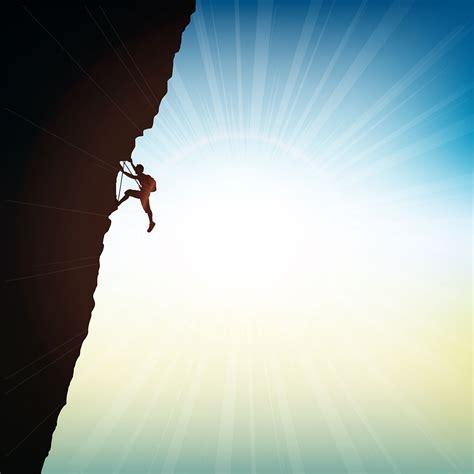 extreme rock climber   vectors clipart