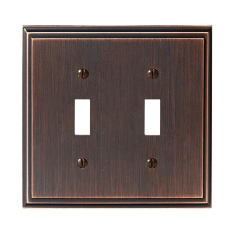 Rubbed Bronze Switch Plates 026634211322 Upc Amerock Bp36515 Orb Mulholland 2 Toggle Wallplate Upc Lookup